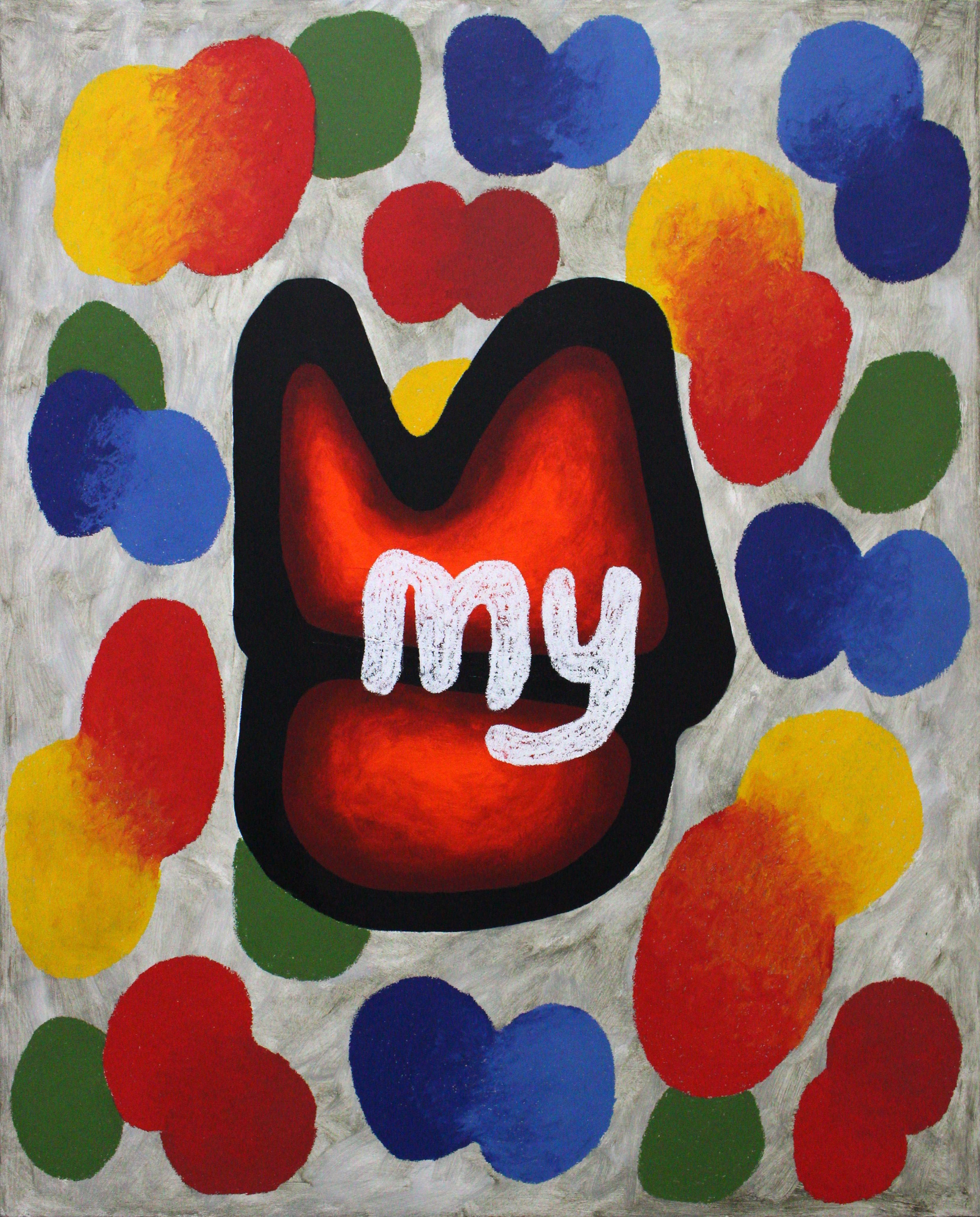My_Oil pastel on panel 73x91cm 2019