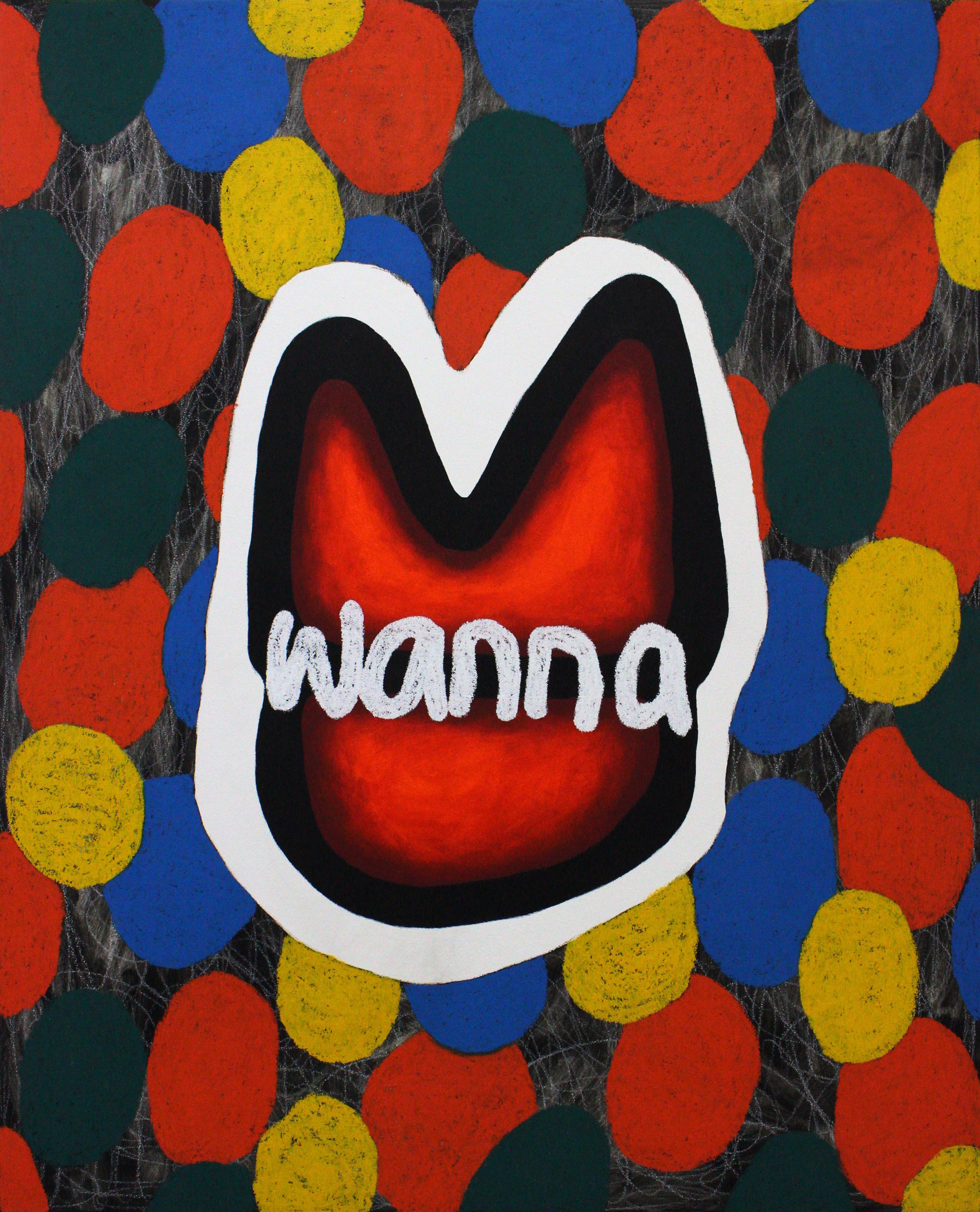 Wanna_Oil pastel on panel 73x91cm 2019