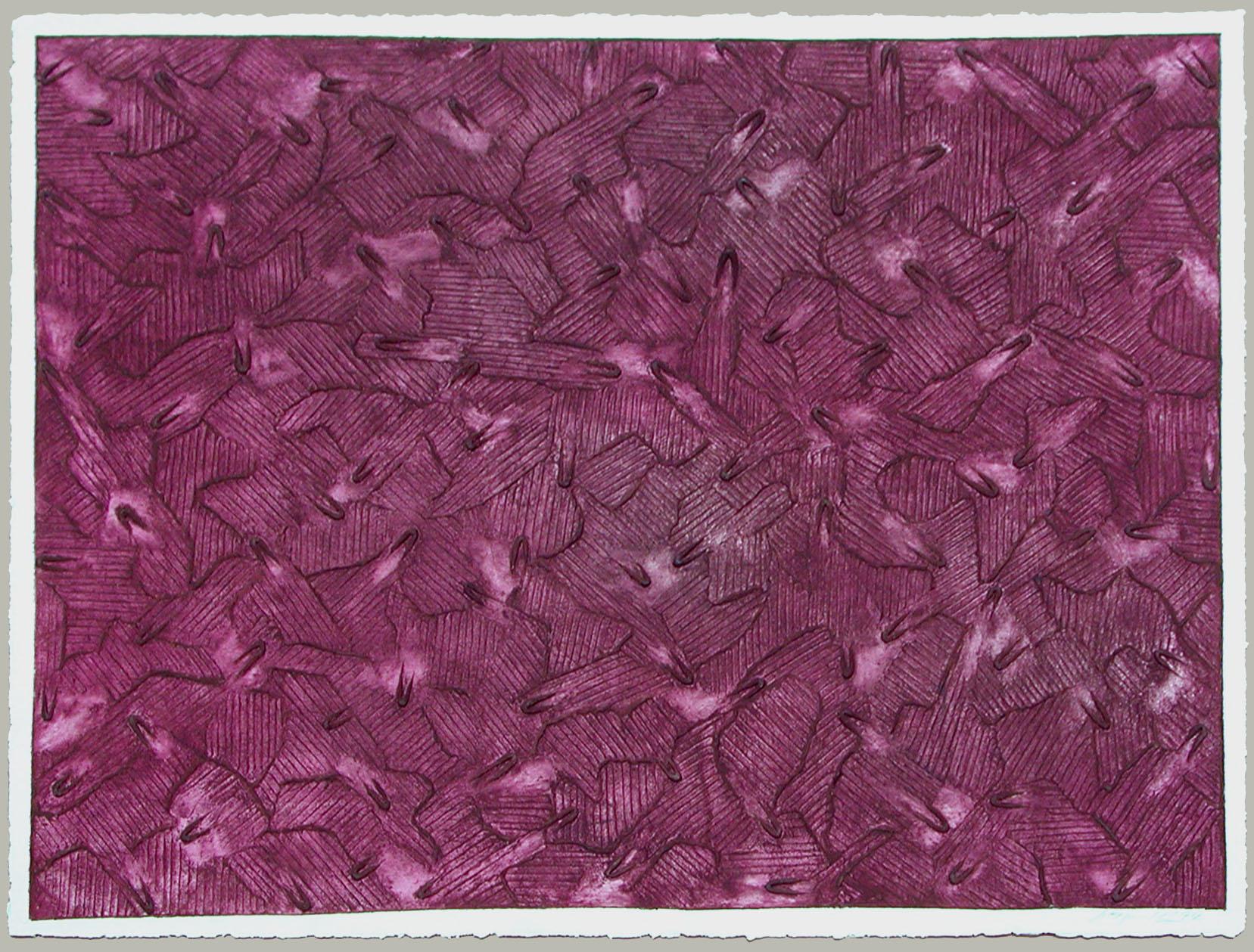 Ecriture Series IV  #28, 1994, Mixografia Monotype, 76 x 101 cm
